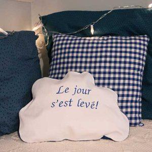 Cazamarmaille range pyjama nuage bleu marine