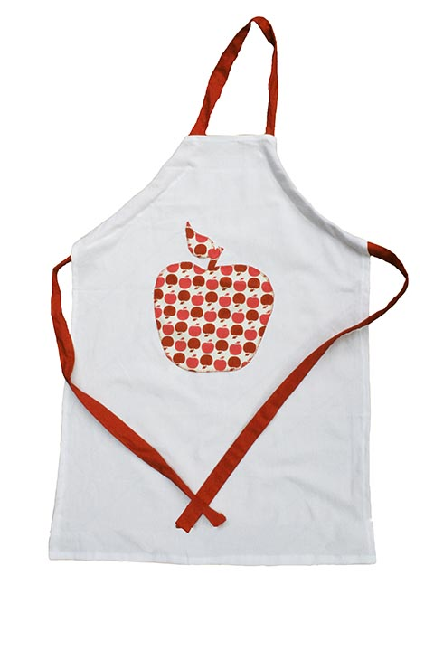 Cazamarmaille tablier pomme à plat