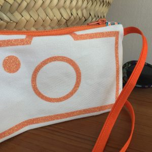 Cazamarmaille sac instagirl orange paillette light