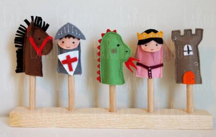Cadeau Noël marionnette à doigts