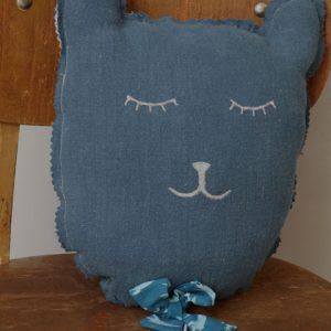 Cazamarmaille-coussin-chat-bleu-et-fusees