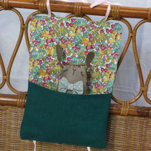 Cazamarmaille-pochette-inzepocket-vert-emeraude-et-fleurs